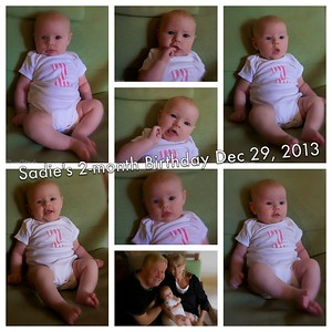 SADIE 2 MONTH COLLAGE