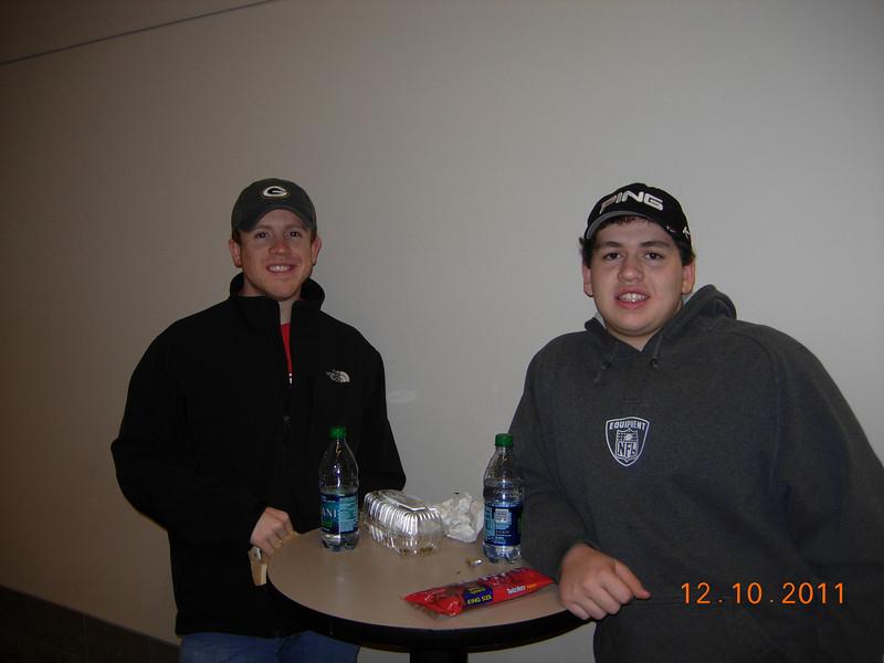 16 December 2011 UW Badger Hockey, Joey Birthday 001