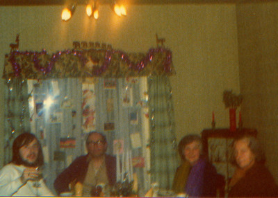 DPB-67: David Barr Jnr, David (Davy) Barr Snr, Lizzie McKeown and Emily (Cissy) Gorman (nee McKeown) Christmac at 187 Sandown Road