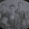 The Whitney's; Luther and Florence May Gibeaut Whitney. Children (clockwise) Luther, Joseph, A. T., Julian, (in center) Edgar. Not pictured is Edna. Daughter, Lillian died in 1881