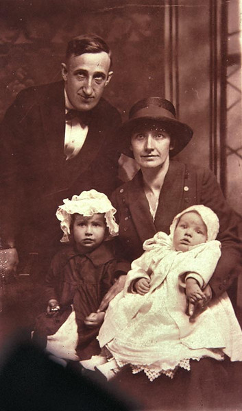This is a picture of my mom and dad with my sister Catherine and brother john or Bud as he was called. It was taken about the time of the first world war in Philadelphia PA.