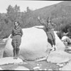 Hilda Sargent and Ruby Parkhouse, Big Tijunga Creek, 1921 or 1922