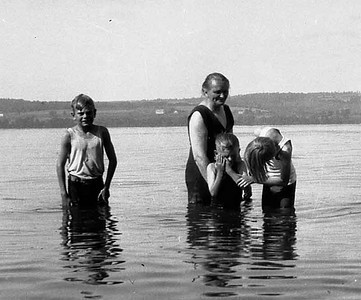 I imagine this was taken up around Ashville N.Y. as that is were the Loomis's had Lakeside property. Elwin doesn't remember being in the water with his Grandmother.
