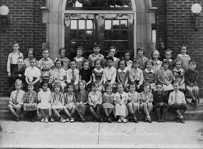 This is my fourth grade class in Corry Penn. I am sixth from left in second row.