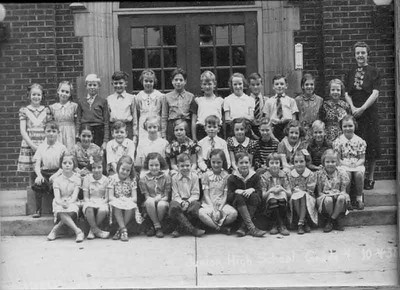 This is my fifth grade class in Corry penn. I am thrid from right in second row.