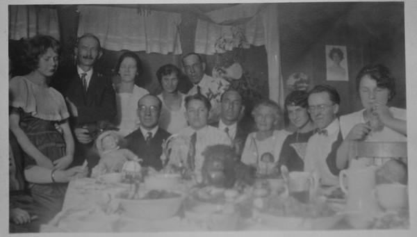 Christmas dinner, 1922