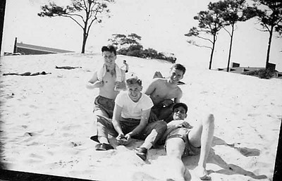 My brother and Craig's Dad with some buddies somewhere in the Pacific.