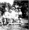 July, 1950 - Alan, Dawn, Gary, Karen, Lynn, Bottom: Hartzell [hard to read] twins
