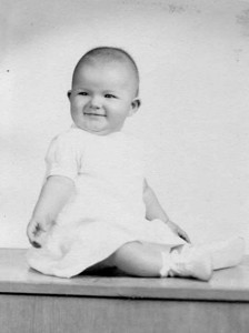 Linda was about six months old in this portrait.