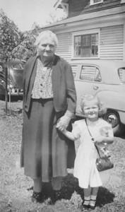 Great Grandma hilda with linda at 8 Benson Street.