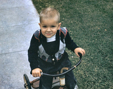 Gary loved to ride all over Rancho on his tricycle.