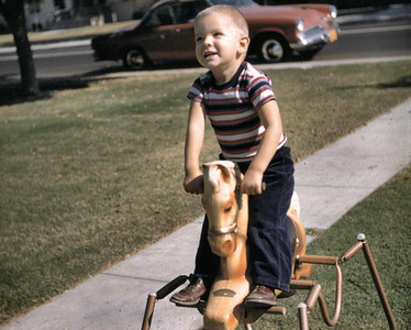 Gary loved to ride this horse. It was a gift of our next door neighbor Homer Shoe.