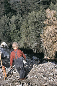 This is at Crystal lake so I hope that is in San Gabriel Mts. Gary loved to throw stones.