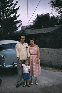 Carol and Frank Mckinney with gary in their driveway near San Bernardino. We lived next to them in Loma Linda.