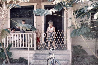 This is our front porch and we think that the young one is Gary and if it is then the date is wrong