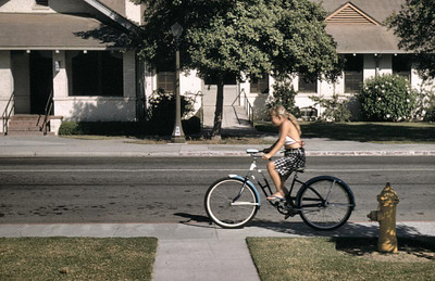 Linda loved her bike. she is eight years old here