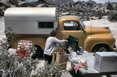 We were camping both at Joshua Tree and on our land in Apple Valley but you are young Gary so it must be about 1956-7