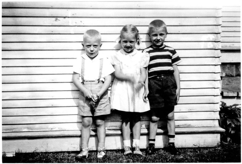 "Alan, Dawn, Bill [in stack labeled ""around 1950""]"