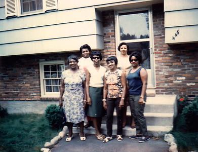 Nana Fergus, Auntie Ina, Aunt Evelyn, Gramma Benders, Auntie Barbara, GRAMMA