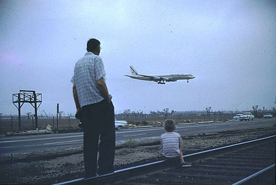 Grandpa and Gary watch planes land at LAX.