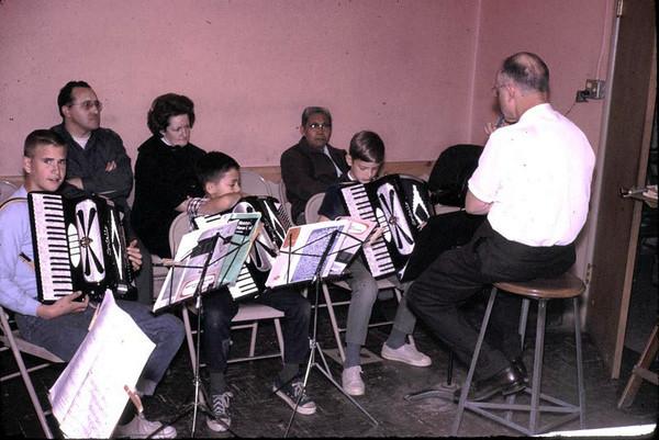 Gary's accordion lesson.