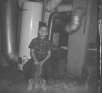 This is John in the basement at Grandpas house.