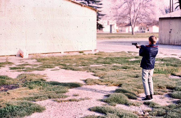 Gary shooting bb gun at Rancho