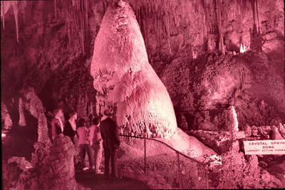 Inside the cave at Carlsbad Caverns