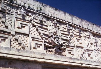 Detail of the Nunnery, Uxmal, Mexico