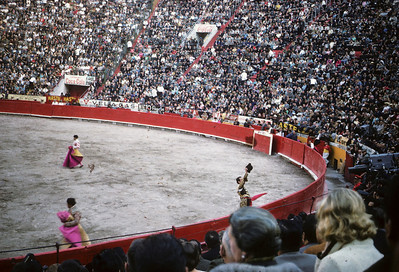 The bullfight in Mexico City.