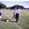 YMCA football, fall 1970.  Big Bud and Ed Voneiff.  At Preston Hollow Park.