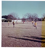 St. Mark's 8th grade soccer, at St. Mark's.  Winter 1975.  Bud in center, left of the red shirt.