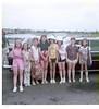 Jenny leaving for Camp Champions, June 1975 from NorthPark Mall.<br /> L-R: Whitney Hudson, Lisa Groebe, Karen Gilbertson, Jenny, Ellen Margaret Elphand, Kathryn Jones, Linda Abernathy, Betsey Forgotson.