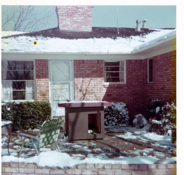 Snow in Dallas, January 1975.