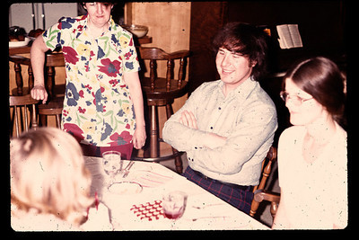 Gary's 17th birthday. Left to right... Mom, Mike, Linda.