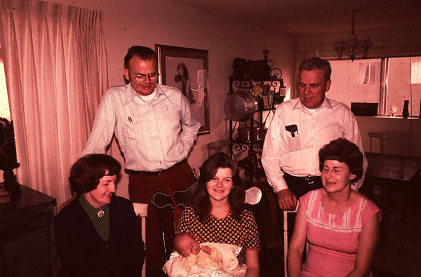 Happy grandparents. This was in Lindas apartment in Redondo Beach.