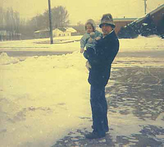 Kimmy and jay somewhere in the snow.