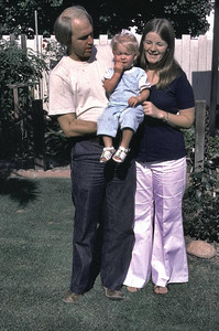 Jay and Kim with Kathy. This must be about 1976 as Erika has not been born.