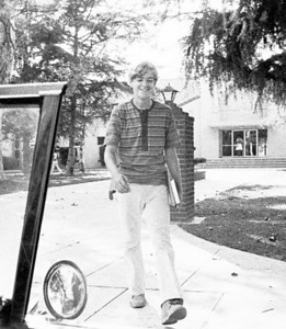 Picking up Gary from school. This is from an old 35mm B&W negative.