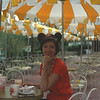 Jacque posing with her Mickie Mouse ears at The Plaza Restaurant in the Magic Kingdom