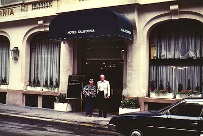Lois & Richard Bellmor Hotel California Paris Europe Trip Sept 1979
