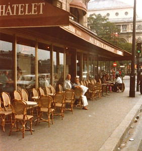 Lois & Richard Bellmor Paris Sidewalk Cafe Europe Trip Sept 1979