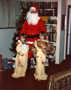 Russell Bellmor As Surprise Santa With Lisa & Lori Roberts Christmas In Michigan No One Knew It Was Russell Dec 1979