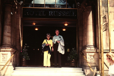 Lois & Richard Bellmor At Hotel Russell London Europe Trip Sept 1979