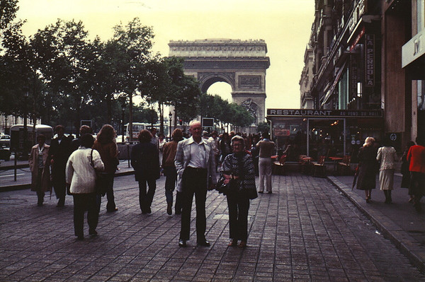 Lois & Richard Bellmor Arc De Triumph Paris Europe Trip Sept 1979
