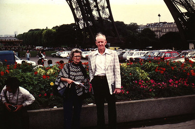 Lois & Richard Bellmor Eiffel Tower Paris Europe Trip Sept 1979