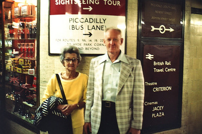 Lois & Richard Bellmor London Subway Sept 1979