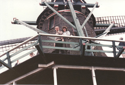 Ann & Russell Bellmor On A Windmill Amsterdam Holland American Express European Tour 1984