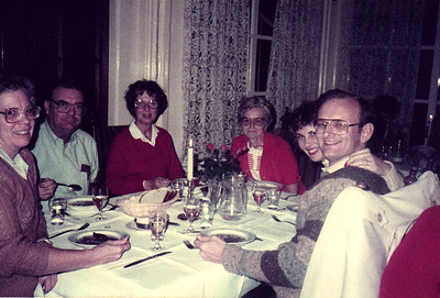 The Baber's With Russell & Ann Bellmor At Our Last Dinner On Tour Amsterdam Holland American Express European Tour 1984