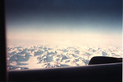 Flying Over Greenland On Our Way Home Holland American Express European Tour 1984